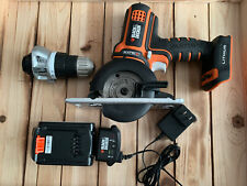 BLACK+DECKER 20V MAX Matrix Quick Connect System Drill/Driver & Trim Saw