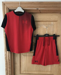 UNDER ARMOUR BOYS SHORTS OUTFIT *7y SHORTS MATCHING SET TOP SPORTS AGE 7 YEARS