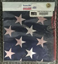 """3' x 5' U.S. """"Perma-Nyl""""  Nylon Flag - Printed -  Made in USA by Valley Forge"""