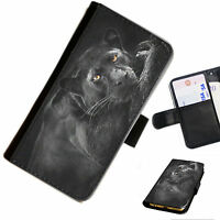 CAT23 PANTHER PRINTED LEATHER WALLET/FLIP PHONE CASE COVER FOR ALL MODELS