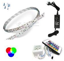 STRIP LED 5MT 5050 IMPERMEABILE IP65 RGB+COMANDO+ALIMENTATORE VTAC V-TAC 2354