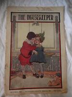 The Housekeeper Magazine December 1907 Xmas Art The Brown Man Williamson VTG