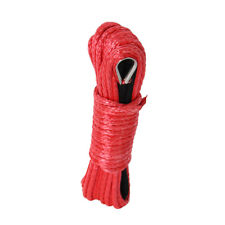 """50ft ×6mm(1/4"""") Nylon Synthetic Winch Line Cable Rope fits most car ATV UTV Red"""