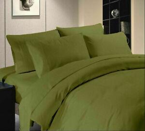 Moss Solid Split Corner Bed Skirt Choose Drop Length US Size 800 Count