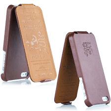 Pcaro® Echtleder Tasche für iPhone 4 / 4S Hülle Back Cover Case Etui Raues Braun