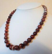 """Edelsteinkette Rot Achat Collier 42cm Halskette 7 - 13 mm Perlen  """"True Gems"""""""