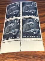Austria Stamps 1.50 S Mother And Daughter Block Of 4 Mnh