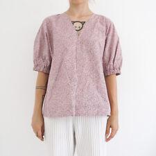 HOF115: COS Bluse V-ausschnitt muster / Top gathered kimono sleeve pink 32 UK 6