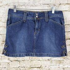 Arizona Mini Jean Skirt Womens Juniors Size 7 HIPSTER Blue Cotton Denim Casual