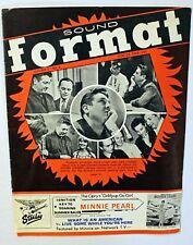 "Rare ""Sound Format"" Magazine - Willie Nelson - Ricky Nelson - 6/25/66"