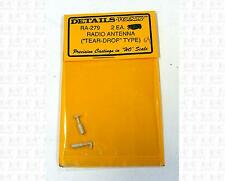 Details West HO Parts: Tear Drop Type Radio Antennas RA-279
