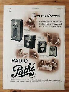 1935 Reklame Werbung  5 / Radio Pathe