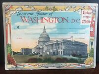 Vintage Washington DC Souvenir Folder Postcard US 1940's