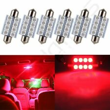 6X Red 1.53 inch/39mm 6SMD-5050 Car Interior Festoon LED Lights For Dome Map