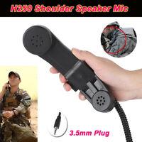 Handheld Speaker Mic Shoulder Microphone PTT 3.5mm Plug Walkie Talkie Ham Radio