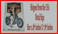 Harley Davidson Motorcycle Oil Man Cave DECOR Metal Tin SIGN Pinup Girl GARAGE