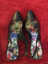 Lightly Worn Fioni Black Slingbacks, Size 13W, Women's Shoes