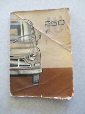 Original 1969 British Leyland 250 JU van owners manual
