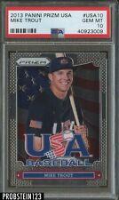 2013 Panini Prizm Mike Trout USA Baseball PSA 10 GEM MINT