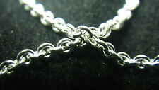 925 SOLID STERLING Silver Bulk 2mm CABLE CHAIN BY THE FOOT 100% Recycled Metal