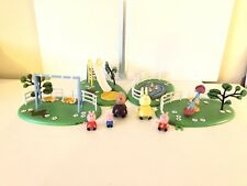 PEPPA PIG Park Playsets Swing diapositiva See-Saw Duck Pond FIGURE LOT BUNDLE