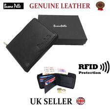 Designer Portefeuille en cuir pour hommes RFID protège sans contact carte