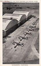 Postcard Sacramento Air Depot Hangars + Repair Docks Sacramento CA