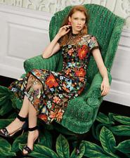 NWT Anthropologie Janine Embroidered Dress! $228.00! by Vone - Sz 4! L@@K! NR!