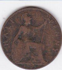 GREAT BRITAIN UK 1909 Half Penny COIN BRITISH LOOK