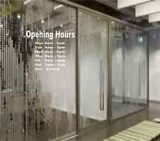 Opening Hours Times Shop Custom Vinyl Sticker - Any Business