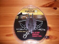 Quarrow Fishing Pliers Turtle 8 Pocket All in One Tool - Perfect For Ice Fishing