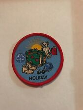 Girl Guiding badge HOLIDAY
