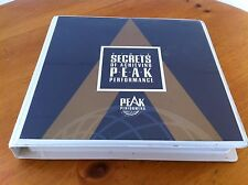 Secrets of Achieving Peak Performance Set - Jim Rohn, Brian Tracy & More! RARE!