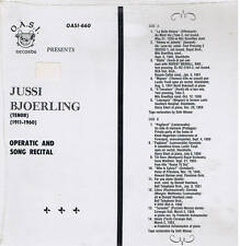 JUSSI BJOERLING operatic and song recital - LP OASI RECORDS sealed