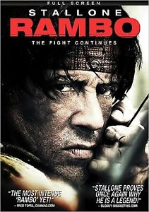 Rambo (DVD, 2008, Full Frame) Action One Of Sylvester Stallone's Greatest Roles
