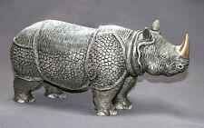 Asian Rhinoceros Bronze Indian Rhino Art Detailed Wow!