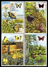 Sweden 1774/7 Maximum Cards Butterflies