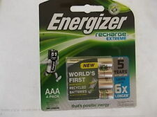 ENERGIZER 4 X AAA 1.2v RECHARGEABLE BATTERIES GENUINE FREE POST BARGAIN