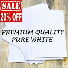 100 SHEETS A4 SMOOTH WHITE 120gsm PAPER PRINTER CRAFT BUSINESS DECOUPAGE CARD UK