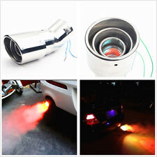 Car Exhaust Pipe Modified Torching End Pipe w/Fire Shining Style & Warning Light