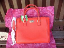 $378 NWT KATE SPADE MARGA APPLEJELLY PROSPECT PLACE PEBBLED LEATHER CARRYALL BAG
