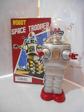 tole tin toy space robby robot serie  limité bleu