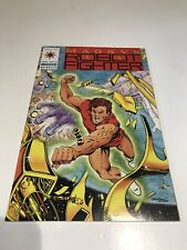1991 VALIANT MAGNUS ROBOT FIGHTER 8 WITH COUPON FLIP SIDE RAI 4 VF+/NM