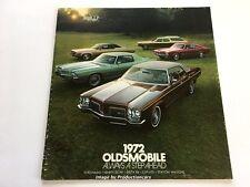 1972 Oldsmobile 48-page Sales Brochure Catalog Cutlass 442 Delta 88 98 Toronado