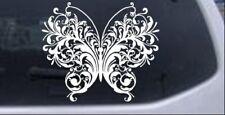 Swirl Butterfly Car Or Truck Window Laptop Decal Sticker White 6x5