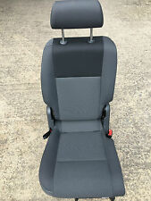 VW CADDY LIFE VAN 2004-2014 2ND ROW RIGHT FOLDING GRAY CLOTH SEAT SEATS
