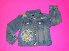 NWOT  BABY GAP DAISY FIELDS JEAN JACKET DENIM 2T 2 YEARS EASTER BEE EMBROIDERED
