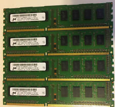 4GB (4X 1GB) DDR3 PC3-8500U (MICRON MT8JTF12864AZ-1G1F1) Desktop DIMM