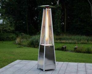 LuxuryHeaters Pyramid Patio Heater Freestanding Garden Outdoor Gas Stainless