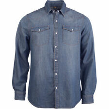 Denim Long Sleeve Casual Shirts for Men